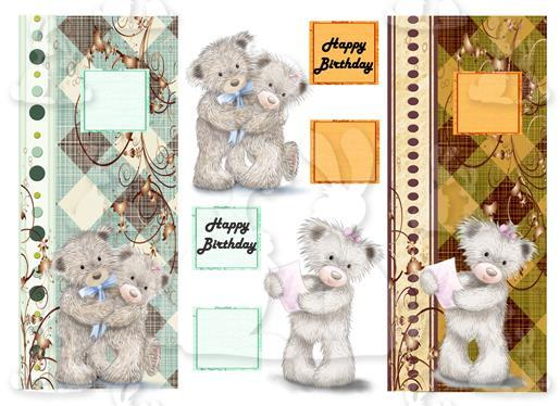 Teddy Birthday (2 DL Cards No 9S)