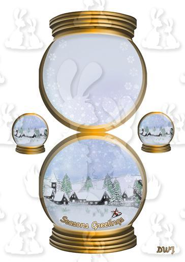 [9] Gold Snow Globe-DWJ