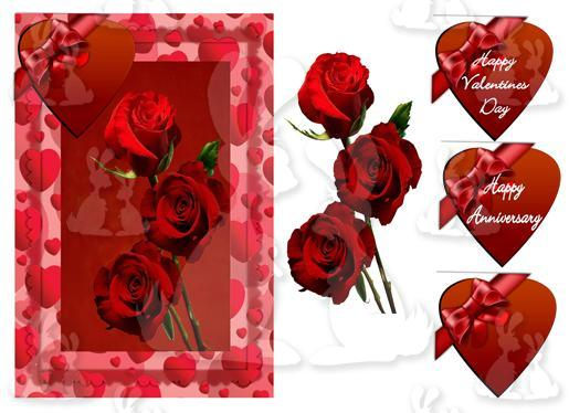Anniversary- Valentines(A5 card No 2T)