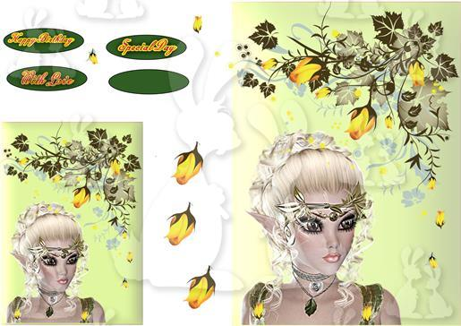 yellow floral plc