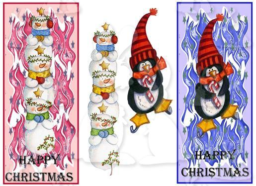 2 DL Christmas Fronts