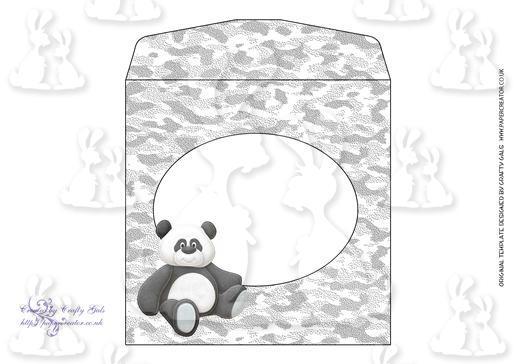 Cuddly Panda Shaped Card EF