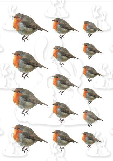 Christmas Robin Toppers