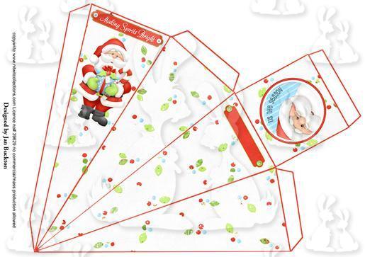 Santa Pyramid Gift Box 1