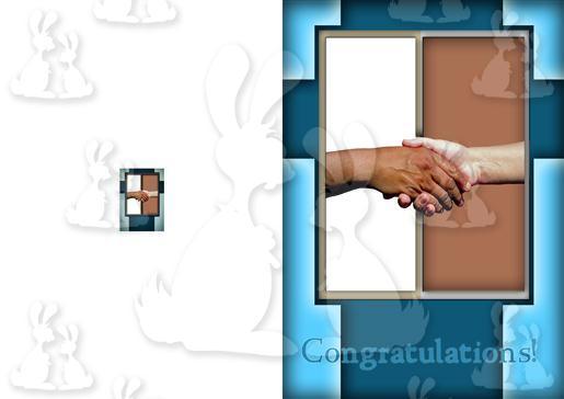 Blue Handshake A5 Card