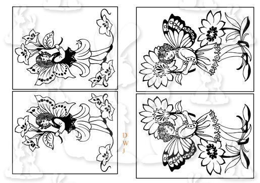 1d Fairy Digi Stamps-DWJ