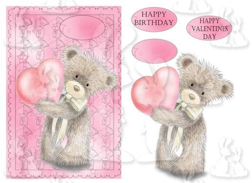 Birthday or Valentine (A5 Card No 58R)