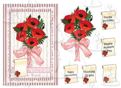 Floral card For all Occasions(A5 No 2T)