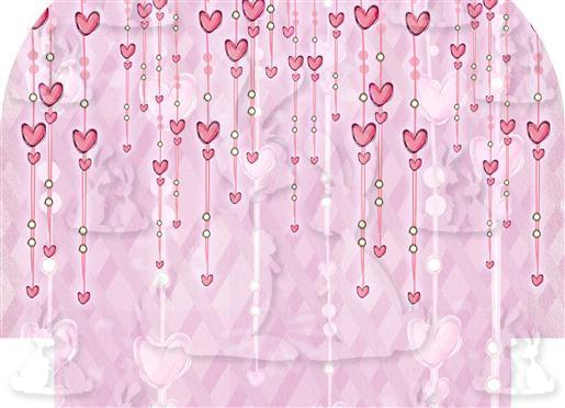 Pink Hanging Hearts Outer Back Panel A5