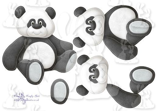 Cuddly Panda Shaped Card Layers