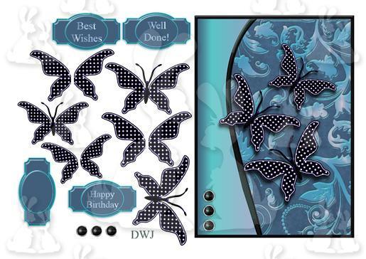 Paper Flutters Spottydenim-DWJ