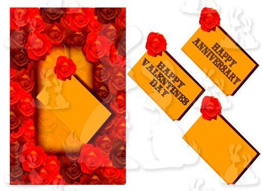 Anniversary- Valentines(A5 card No 3T)
