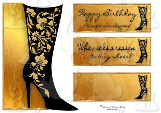 Shoe Lover Shaped Card Front