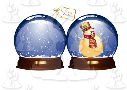 Snowman In Snowglobe Shaped Card