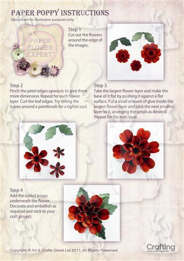 Poppy Flower Instruction Sheet