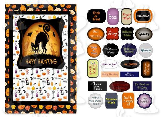 Halloween A5 Topper And Labels (No 1T)