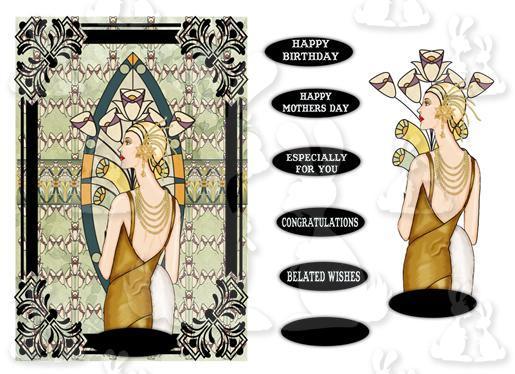 Elegant Lady (A5 card No 4T)