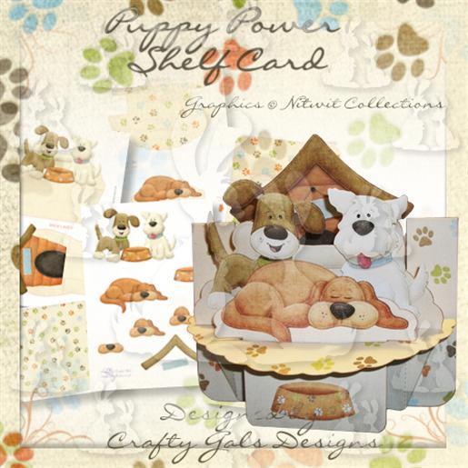 Puppy Power Shelf Card Preview