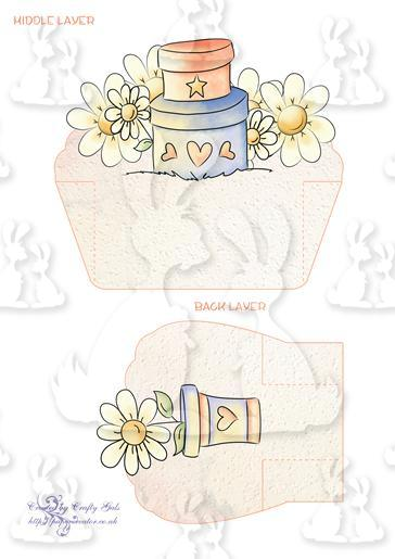 Daisy Splash Shelf Card Layers 2