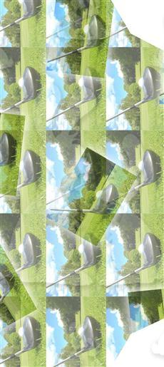 Green And Blue Golf Inside Large Pocket A5