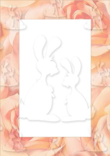 Peach Rose Tunnel Card Part C