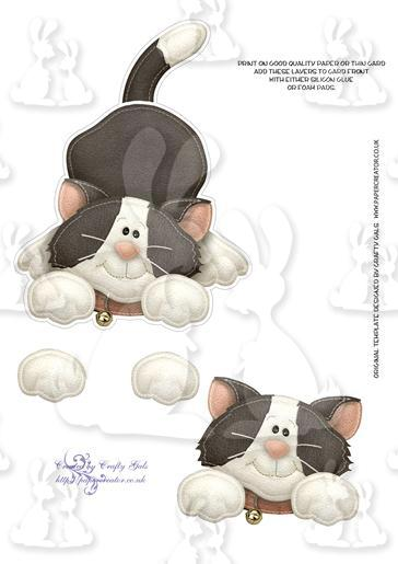 Playful Kitty Shaped Card Layers