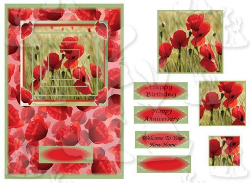 A5 card (Poppy Field No 1)