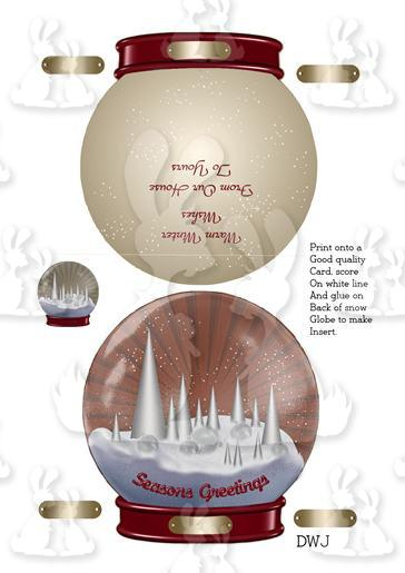 [9] Snow Globe Shaped Card-DWJ
