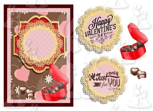 valentines, anniversary(A5 Card No 16R)