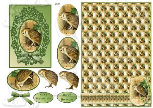 Barn owl design sheet-dwj