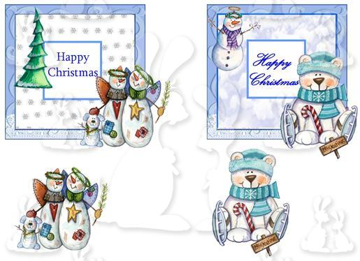 2 Cards Fronts  for Christmas