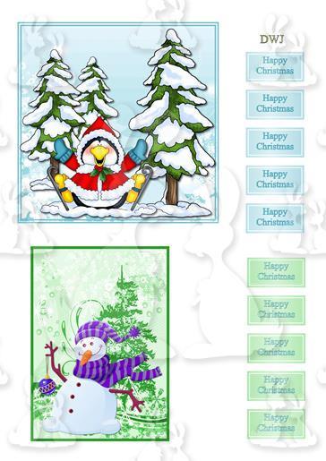 Christmas snowman-penquin-DWJ