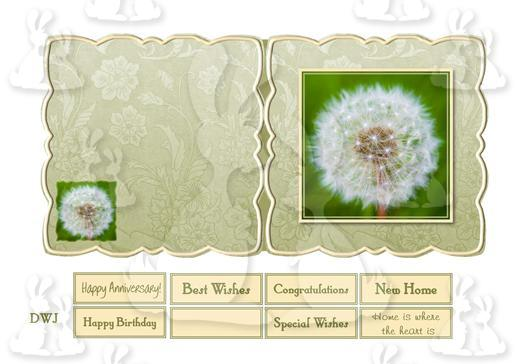 Dandelion Shaped Card-DWJ