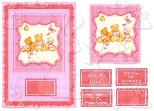 Baby Girl (A5 card No 4b)