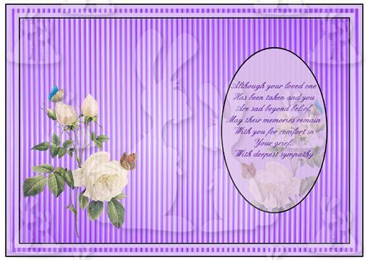 With Sympathy Card insert-DWJ
