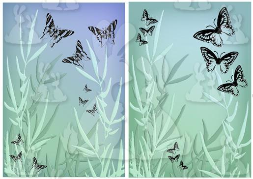 Butterfly backgrounds duo-DWJ
