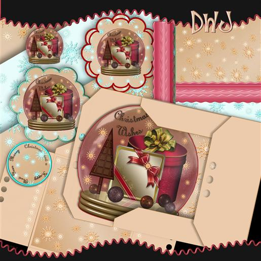Chocolate Snowglobe kit 2-DWJ