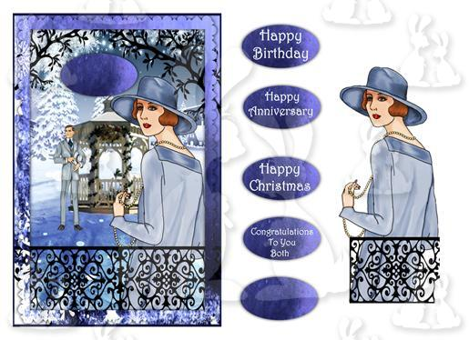 Deco Follies (A5 Card For Any  Occasions No4)