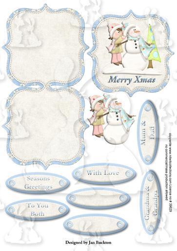 Snow Fun mini easel