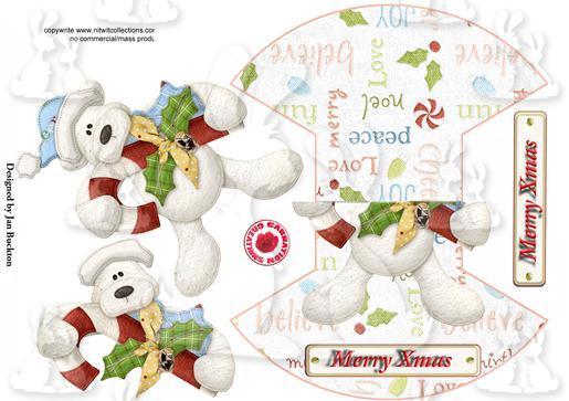 Rocker Card - Snow Bear