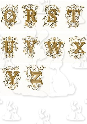 Gold Decorative Alphabet Part 2