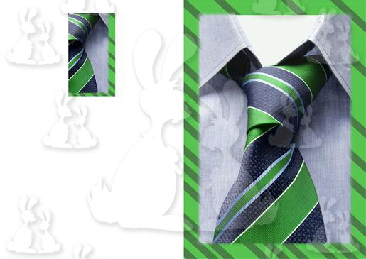 Green And Black Shirt Tie A5 Card