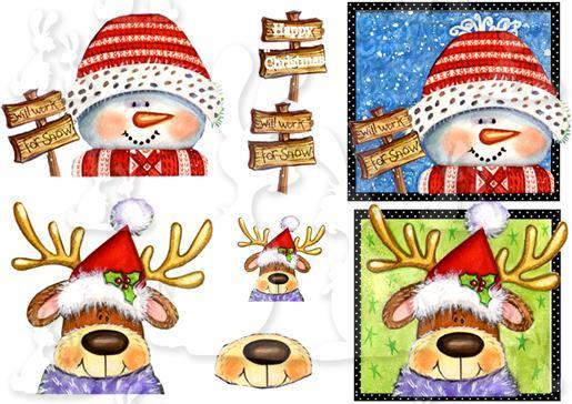 snowman  reindeer plc