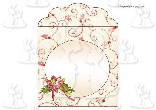 Poinsettia Shaped Spring Card Envelope 1