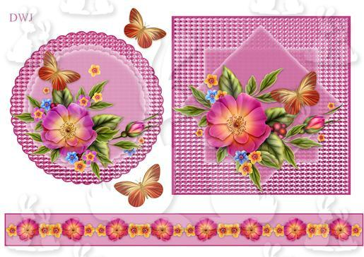 Floral Toppers and border-DWJ