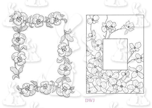 1e Pansy corners-Floral frame-DWJ