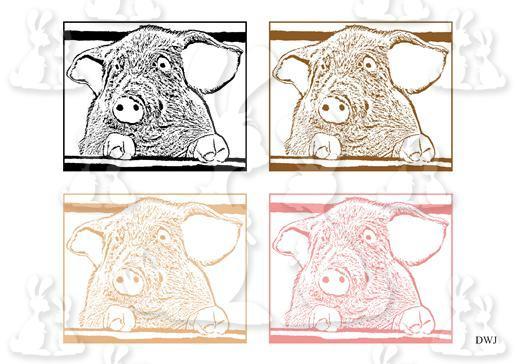 Digi Stamps Little Piggies-DWJ