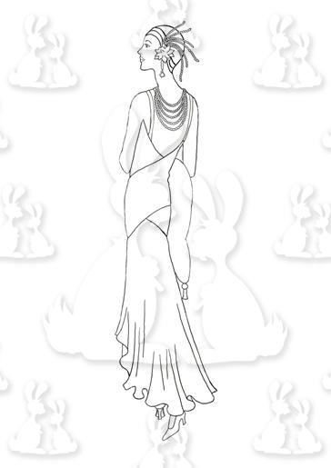 A4 Beautiful Art Deco Lady