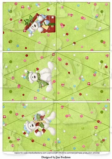 Triangle Gift Boxes - Snow Bears
