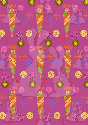 Bauble Set Purple Design